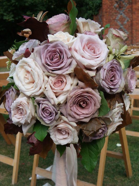 Vintage roses in dusky pink and lilac