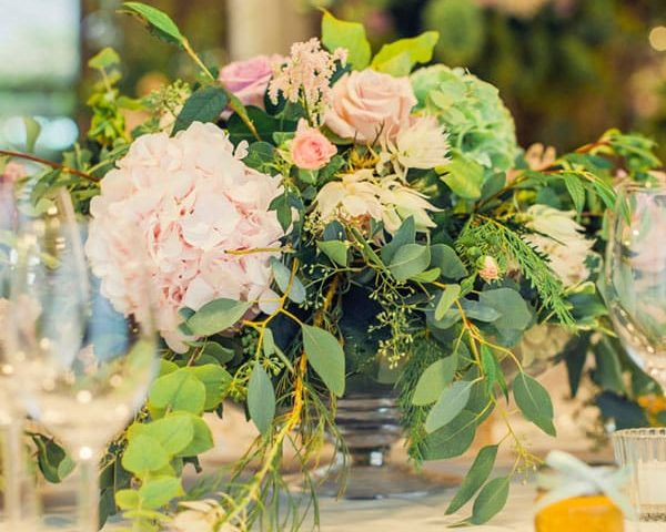 Table flowers weddings London