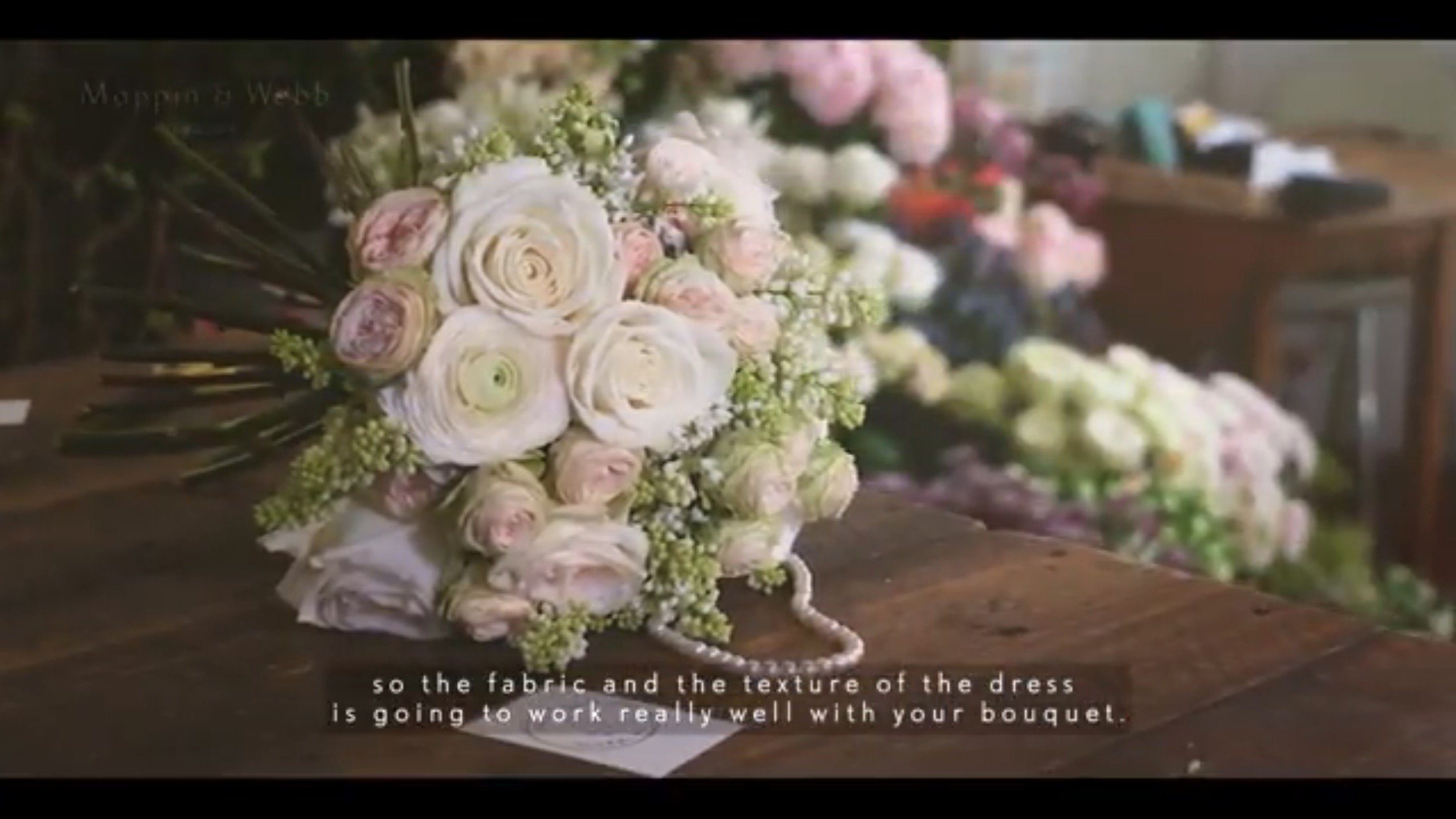 Wedding florist London video
